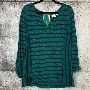 Anthropologie // Postmark // Striped Keyhole Top